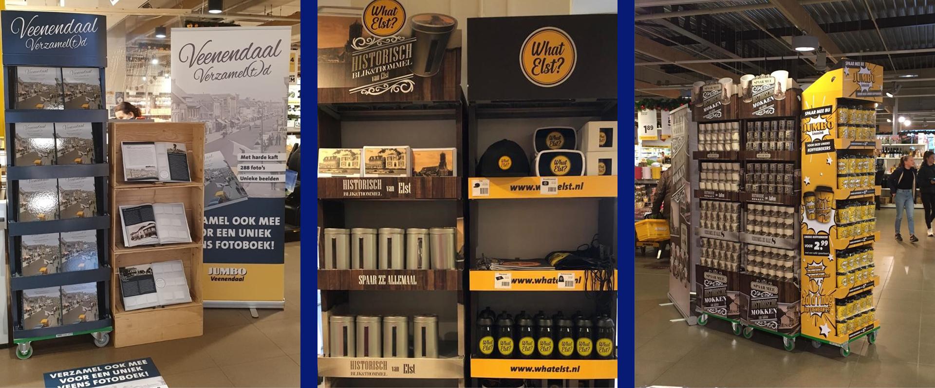 Lokale producten op display