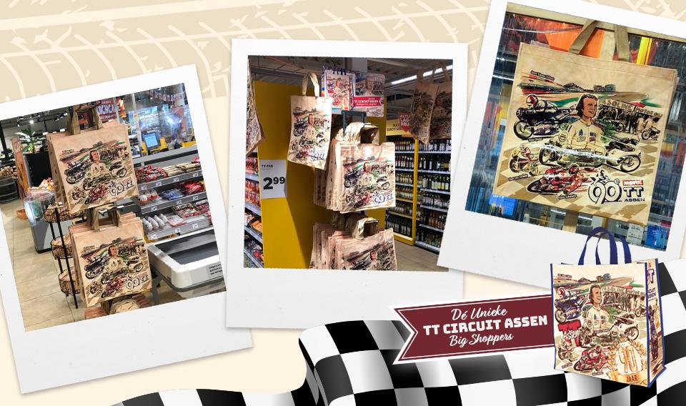 Compilatie van de TT Assen tassen op de winkelvloer