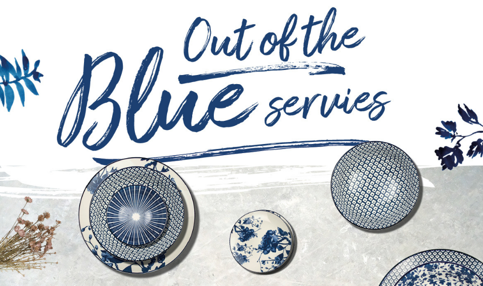 Aankondiging Out of the Blue servies